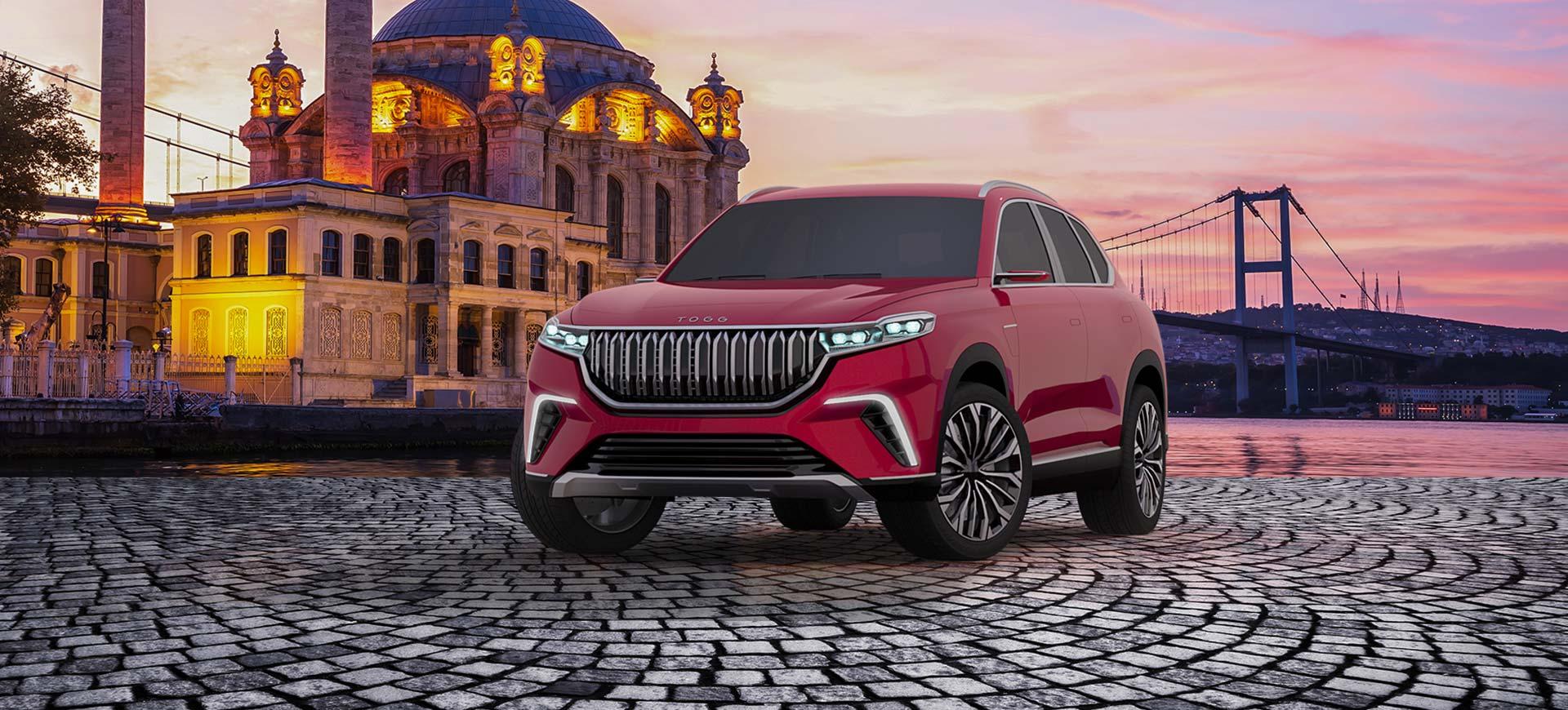 Türkiye'nin Otomobili Girişim Grubu'nun (TOGG), 2022 yılında üretimine başlayacağı yerli otomobil TOGG SUV modeli.