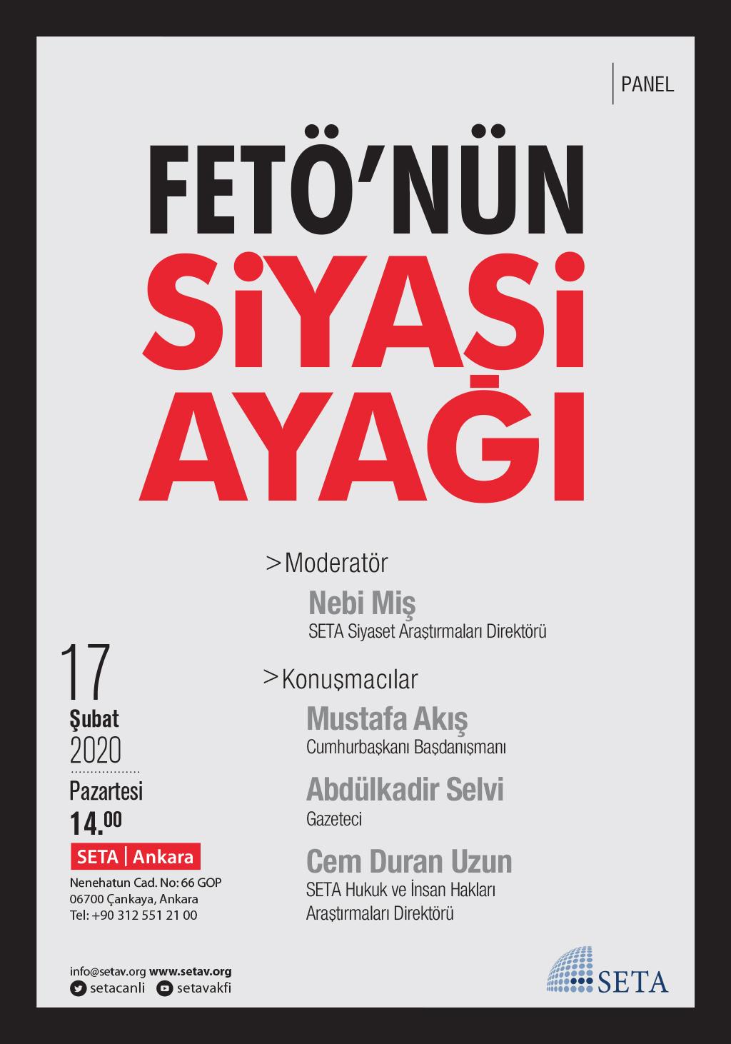 Panel: FETÖ'nün Siyasi Ayağı