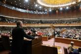 14 Şubat 2020   Cumhurbaşkanı Recep Tayyip Erdoğan, Pakistan Parlamentosu'nda gerçekleştirilen Ulusal Meclis ve Senato ortak oturumunda konuştu.