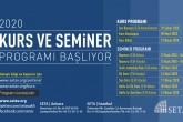 SETA 2020 Bahar Dönemi Kurs ve Seminer Programı Başlıyor