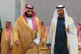 Abu Dabi (Birleşik Arap Emirlikleri) Veliaht Prensi Şeyh Muhammed bin Zayid Al Nahyan (sağda) ve Suudi Arabistan Veliaht Prensi Muhammed bin Selman bin Abdülaziz el-Suud (solda)