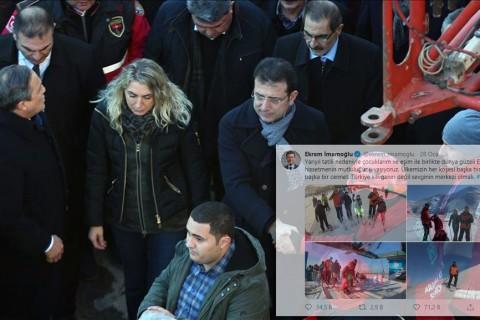 25 Ocak 2020 | CHP Genel Başkan Yardımcısı Veli Ağbaba, İstanbul Milletvekili Sezgin Tanrıkulu, İstanbul Büyükşehir Belediye Başkanı Ekrem İmamoğlu ve bazı partililer, Elazığ'da deprem bölgesinde incelemelerde bulundu.  CHP heyeti, merkez Sürsürü Mahallesi'nde yıkılan Dilek Sitesi'nde sürdürülen çalışmaları bir süre izledi.  Burada yetkililerden bilgi alan heyet, daha sonra alandan ayrıldı.