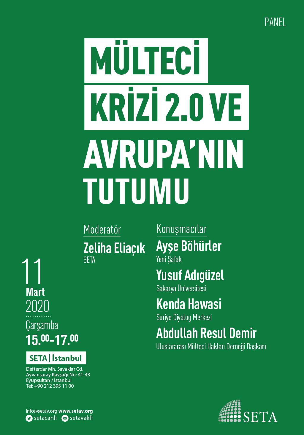 Panel: Mülteci Krizi 2.0 ve Avrupa'nın Tutumu