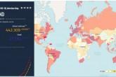 Yeni Koronavirus COVID-19 Enfeksiyon Haritası Ekran Görüntüsü