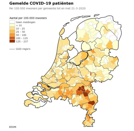 Hollanda'da Koronavirüsün Yayılımı