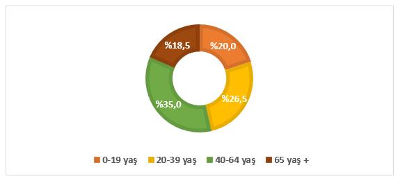 Grafik 1. İsviçre'de Nüfusun Yaş Dağılımı