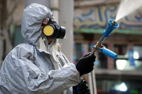 Irak'ta koronavirüs dezenfekte çalışmaları