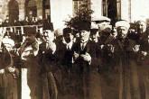 23 Nisan 1920'de, Hacıbayram Camisi'nde cuma namazı kılınıp, kurbanlar kesildikten sonra ilk TBMM, İttihat ve Terakki Kulübü olarak yapılan binada dualar eşliğinde açıldı.