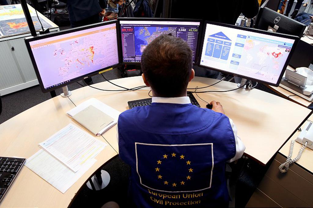Brüksel'deki Acil Müdahale Koordinasyon Merkezi (ERCC)