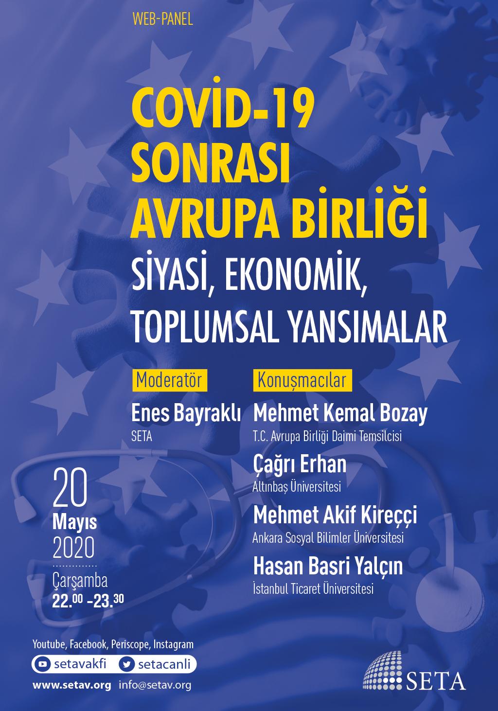 Web Panel: COVID-19 Sonrası Avrupa Birliği   Siyasi, Ekonomik, Toplumsal Yansımalar