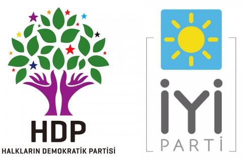 HDP ve İYİ PArti logoları