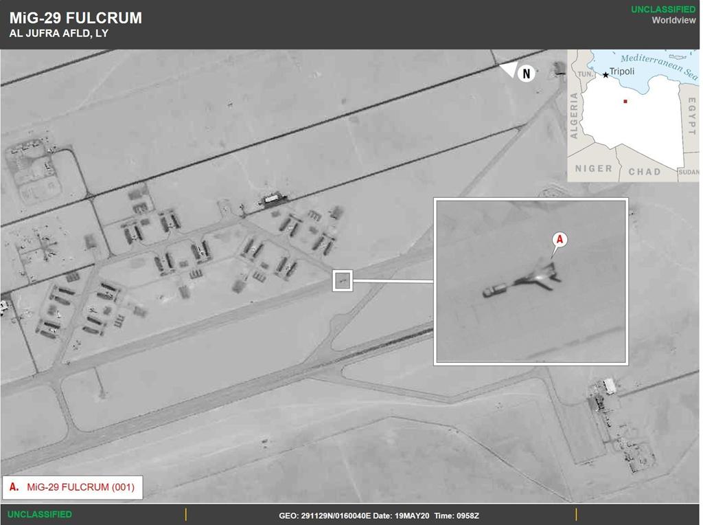26 Mayıs 2020 | ABD Afrika Kuvvetleri Komutanlığı (AFRICOM), Rusya'nın Libya'ya savaş uçağı gönderdiğini belirterek, Moskova'nın Libya kıyılarında hava sahasını kapatabileceğini ve bunun Avrupa açısından önemli bir güvenlik kaygısı oluşturacağını bildirdi. Rusya'nın son zamanlarda Libya'daki Kremlin destekli özel güvenlik şirketi Wagner'e destek vermek üzere bu ülkeye gönderdiği uçakların, uluslararası toplumca tanınan Libya hükümetine karşı gayrimeşru güçlerin lideri Halife Hafter'i destekleyen Wagner grubuna taaruz desteği vereceği kaydedildi. ( AFRICOM - Anadolu Ajansı )