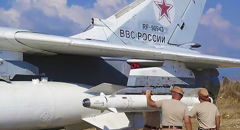 KH-29 donanımlı SU-24 Rus Savaş Jeti