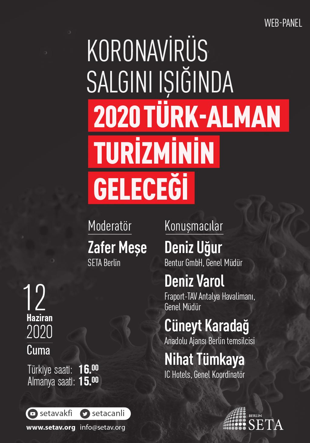 Web Panel: Koronavirüs salgını ışığında 2020 Türk-Alman turizminin geleceği