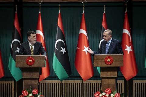 4 Haziran 2020   Türkiye Cumhurbaşkanı Recep Tayyip Erdoğan, Libya Başbakanı Fayiz es-Serrac'ı Cumhurbaşkanlığı Külliyesi'nde kabul etti. Cumhurbaşkanı Erdoğan ve Serrac, görüşmenin ardından ortak basın toplantısı düzenledi.