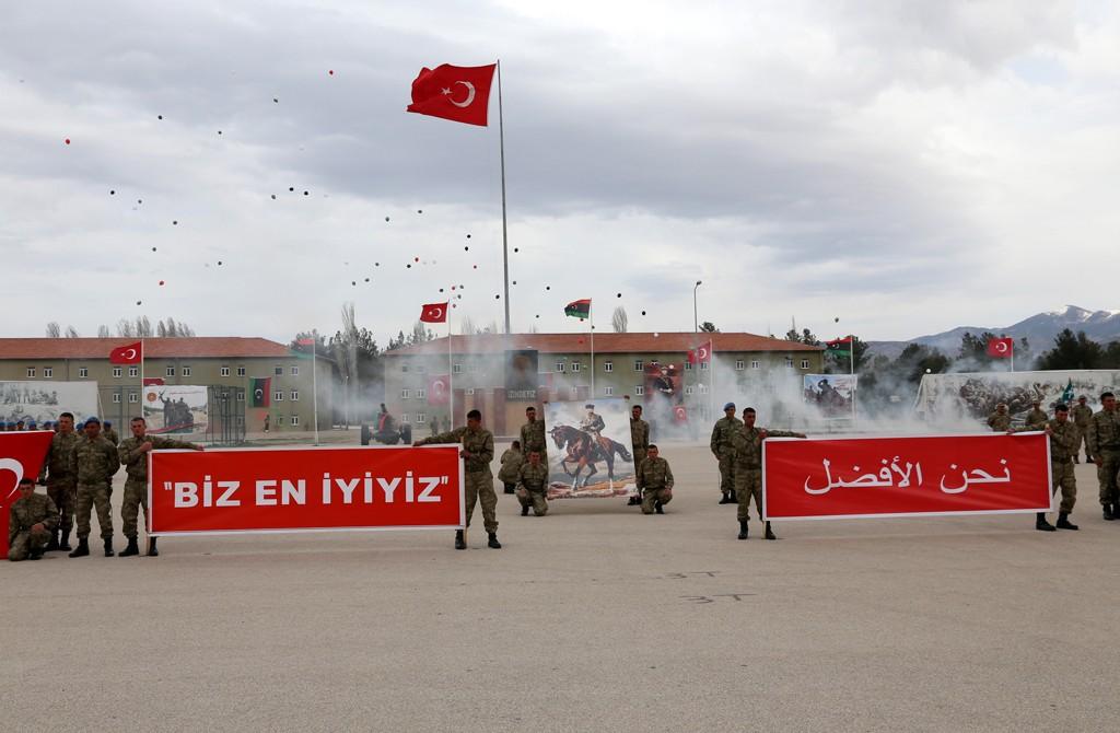 Türk Askeri Eğitim Okulunda Libya Askerleri