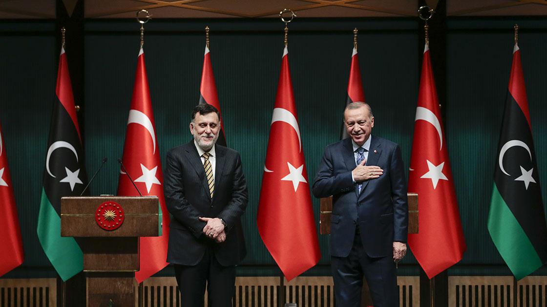 Cumhurbaşkanı Erdoğan, Libya Başbakanı Serrac ile haziran ayının başında bir araya geldi