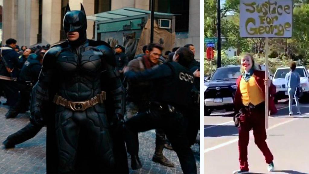 2 Haziran 2020 | Batman ve Joker karakterleri, George Floyd'un ölümü protestolarında ABD'nin birçok şehrinde görüldüler.