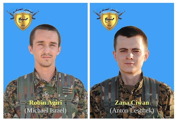 ANTIFA / PKK-YPG teröristleri Michael Israel ve Anton Leschek