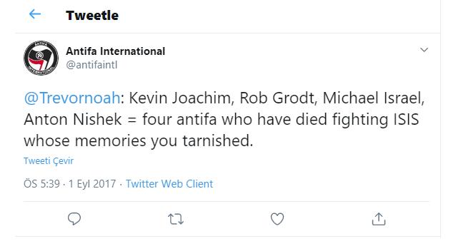 Antifa International Twitter