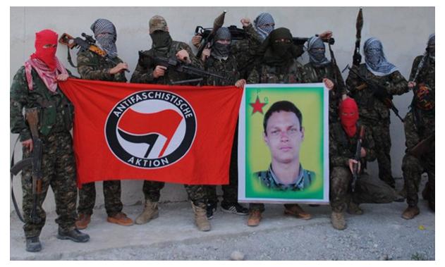 ANTIFA / PKK-YPG teröristi Kevin Joachim