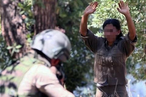 Türk Silahlı Kuvvetleri'ne teslim olan bir PKK teröristi