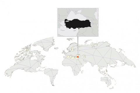 dunya-Dünya haritasında Türkiye-turkiye