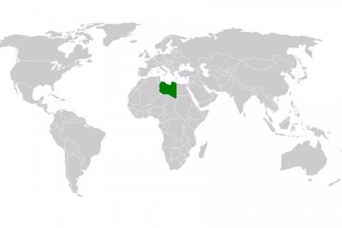 Libya - Dünya Haritası