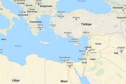Doğo Akdeniz Haritası (Kaynak: Google Haritalar)