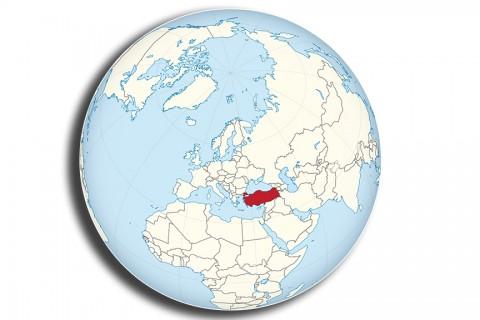 Kuzey Yarım Küre'de Türkiye'nin konumu