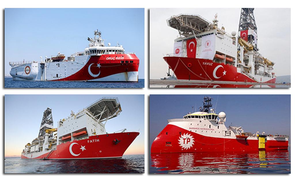 Türkiye^nin Sondaj ve Sismik Araştırma Gemileri (Görselde Kanuni Sondaj Gemisi yer almamaktadır)