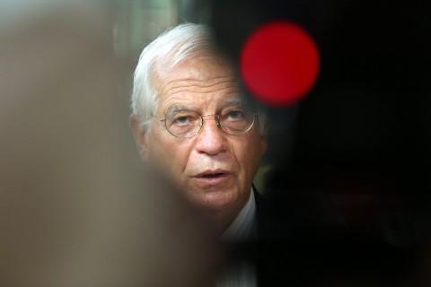 21 Eylül 2020 | AB Dış İlişkiler Konseyi, Doğu Akdeniz'i de içeren konuları görüşmek üzere Brüksel'de toplandı. Toplantı öncesi Avrupa Birliği Dışilişkiler ve Güvenlik Politikaları Yüksek Temsilcisi Josep Borrell basın açıklaması yaptı. (Foto:  Dursun Aydemir / AA)