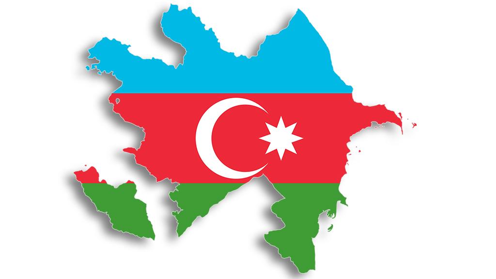Azerbaycan Harita & Bayrak