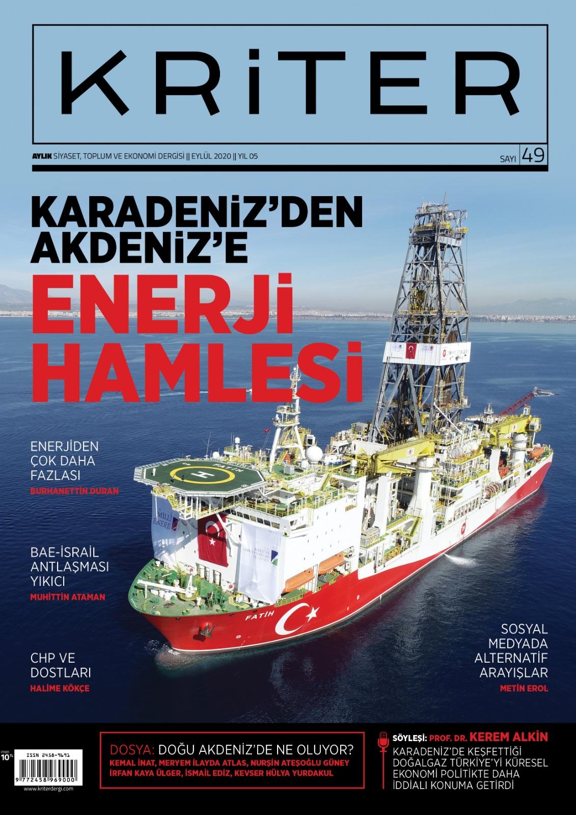 Kriter'in Eylül Sayısı Çıktı: Karadeniz'den Akdeniz'e Enerji Hamlesi