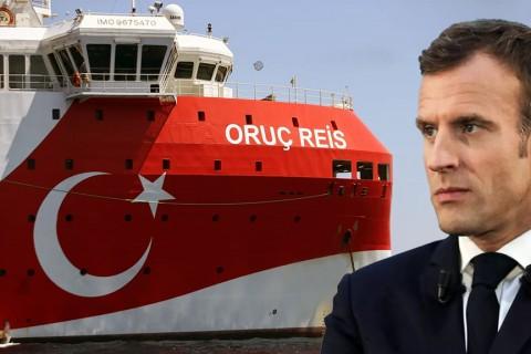 Oruç Reis Sondaj Gemisi & Emmanuel Macron