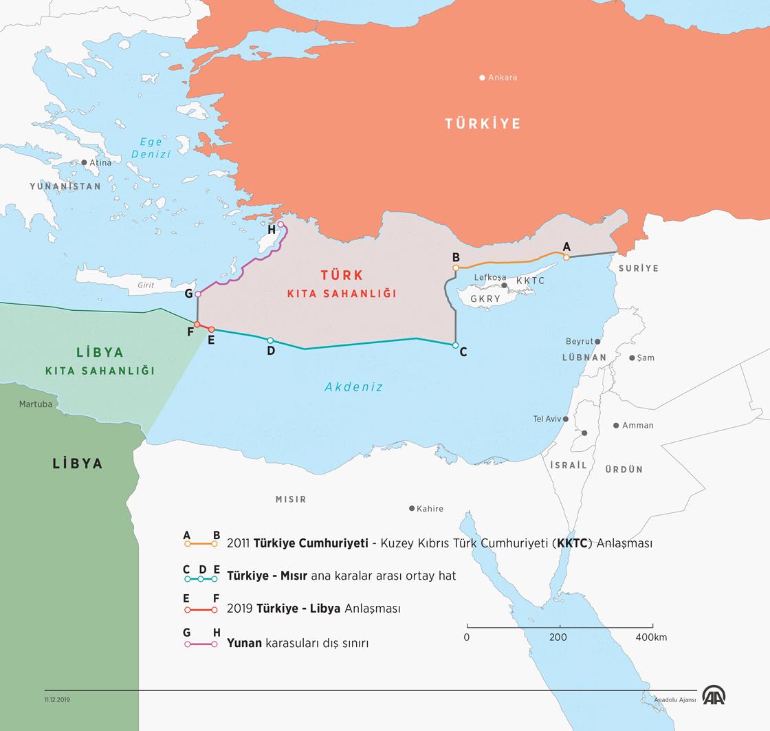 Türkiye ve Libya arasındaki anlaşma, kıta sahanlığı ve münhasır ekonomik bölgeyi de içine alıyor.