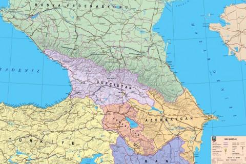Kafkasya Siyasi Haritası