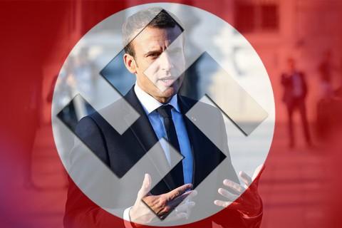 Macron ve Nazi Bayrağı