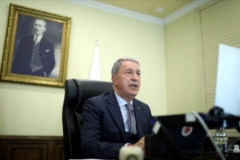 Milli Savunma Bakanı Hulusi Akar (Foto: Arif Akdoğan / AA)