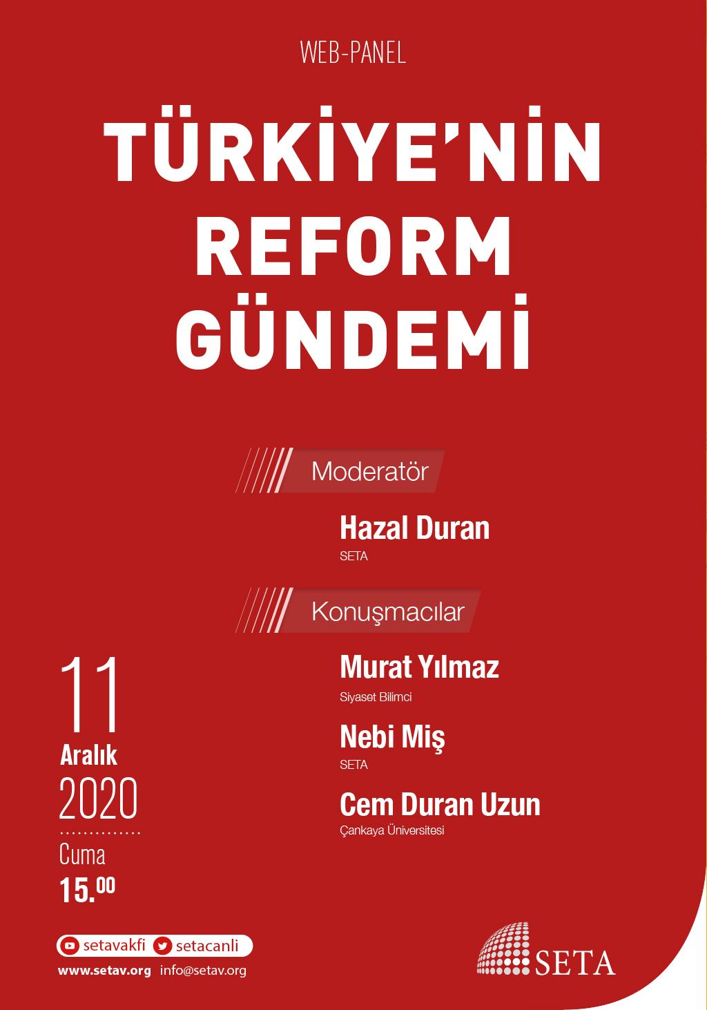 Web Panel: Türkiye'nin Reform Gündemi