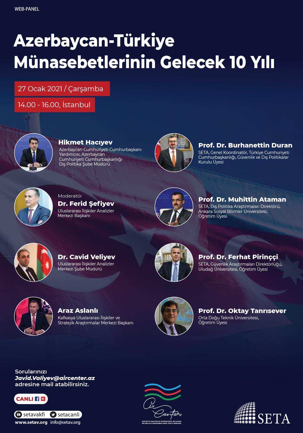 Web Panel: Azerbaycan-Türkiye Münasebetlerinin Gelecek 10 Yılı