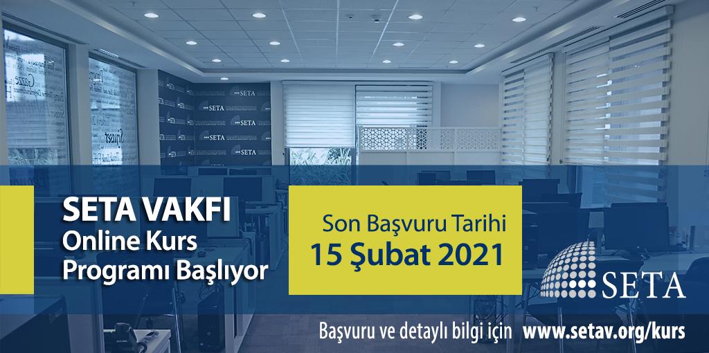 SETA 2021 Bahar Dönemi Online Kurs Programı Başlıyor