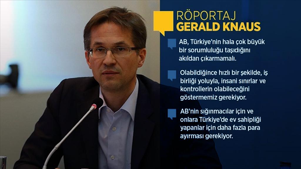 Knaus: AB ve Türkiye Yenilenmiş Bir Mutabakatla Mülteciler Konusunda Dünyaya Örnek Olmalı