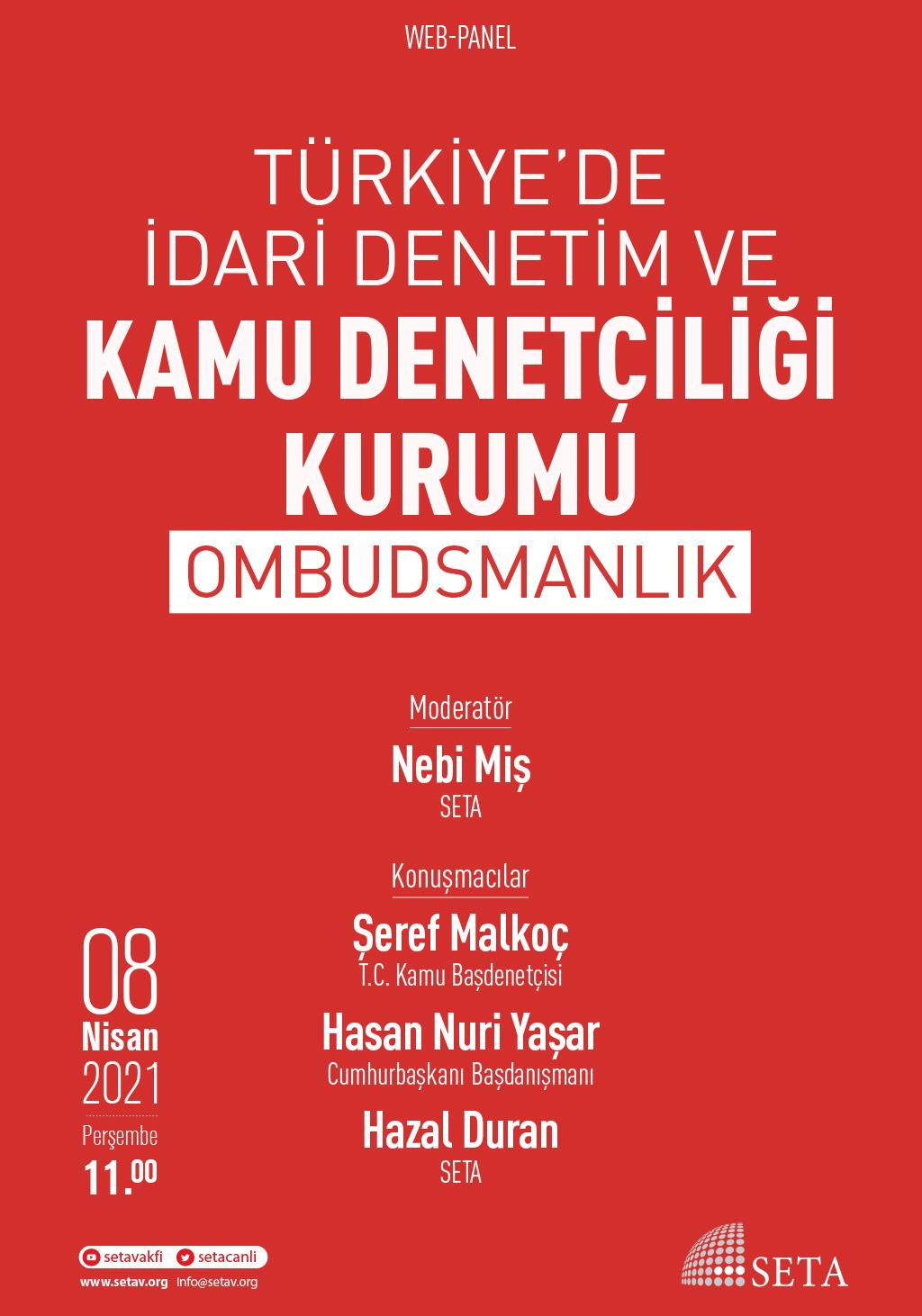 Web Panel: Türkiye'de İdari Denetim ve Kamu Denetçiliği Kurumu  | Ombudsmanlık