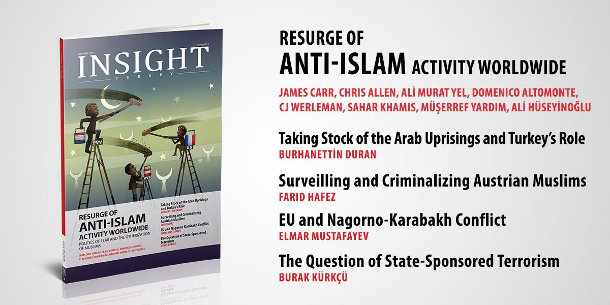 """Insight Turkey """"Dünya Çapında İslam Karşıtı Faaliyetlerin Yeniden Canlanması"""" Başlıklı Yeni Sayısını Yayınladı"""
