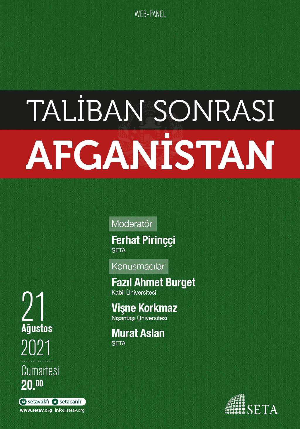 Web Panel: Taliban Sonrası Afganistan
