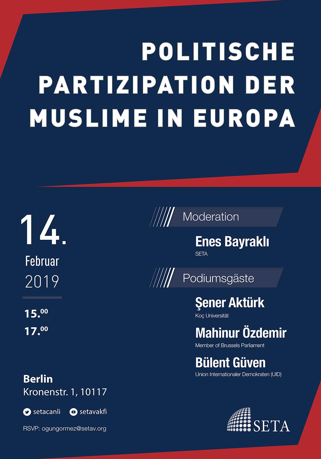 Podiumsdiskussion: Politische Partizipation der Muslime in Europa