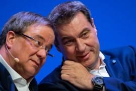 Archivbild: NRW-Chef Armin Laschet (links) und Bayerns Ministerpräsident Markus Söder kandidieren für den CDU-Parteivorsitz.  (DPA)