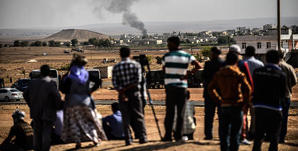 The Battlefront of the ISIS-PYD Encounter Ayn Al-Arab (Kobani)