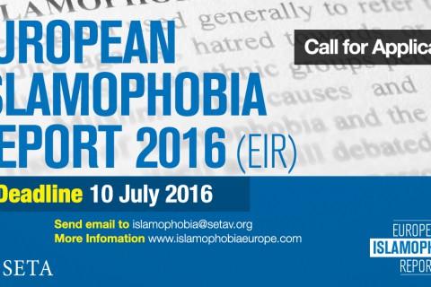 Call For Reports: European Islamophobia Report 2016 (EIR)
